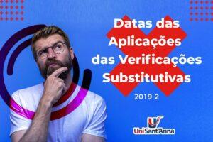 Confira local e data de aplicação da Verificação Substitutiva