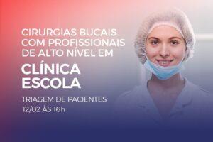 Clínica Escola de Pós-Graduação da Funorte, anexa ao campus do UniSant'Anna, realiza cirurgia bucal a custo acessível