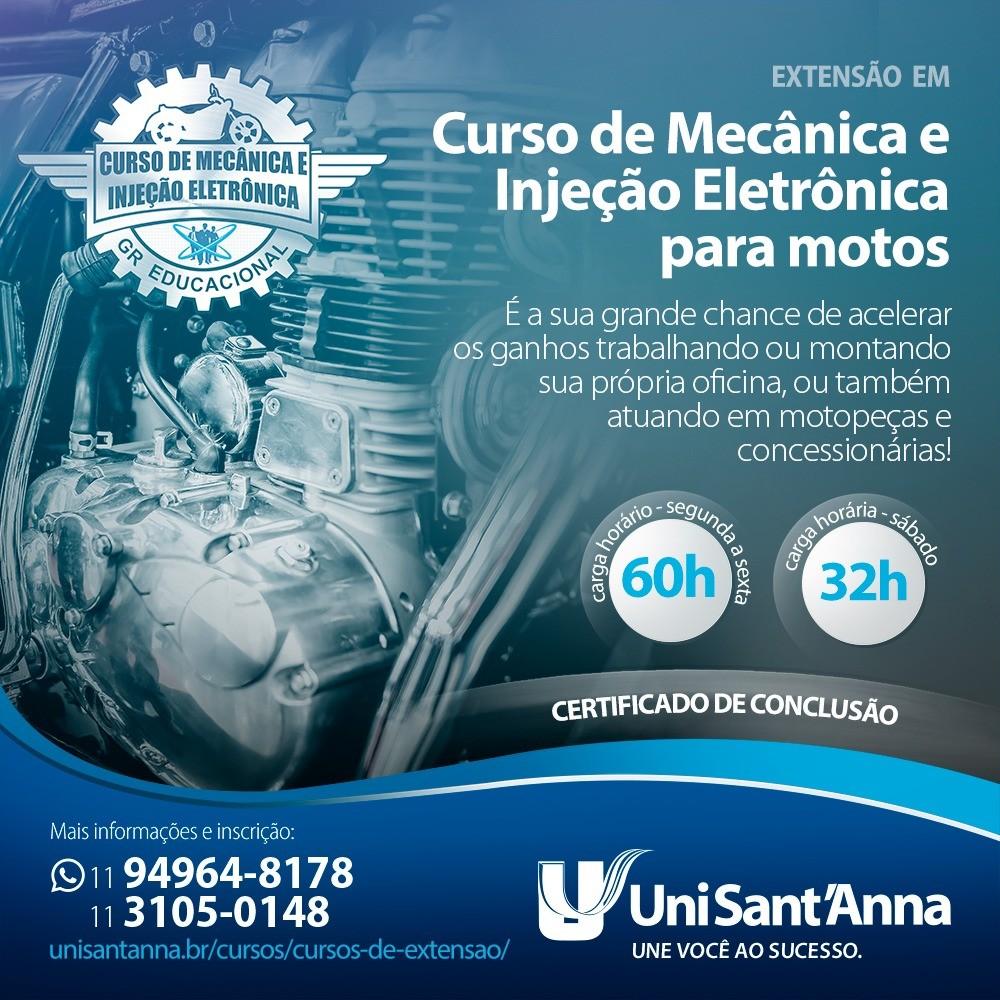 Mecânica e injeção Eletrônica para motos