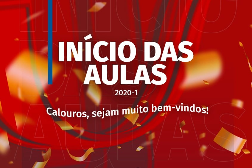 Calouros tem início das as aulas, segunda, 17/02/2020