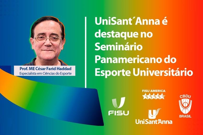 UniSant'Anna é destaque no Seminário Panamericano do Esporte Universitário.