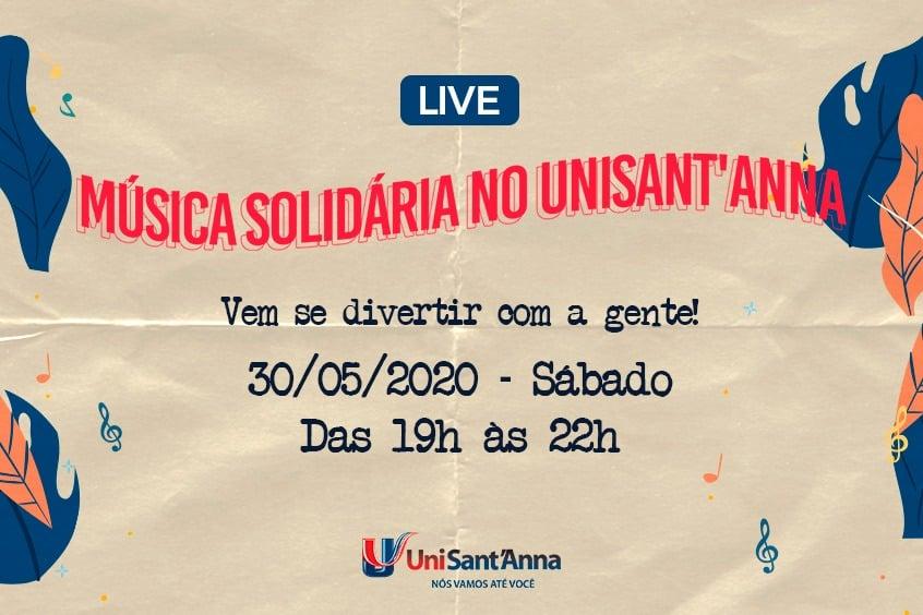 Live: Música Solidária no UniSant'Anna