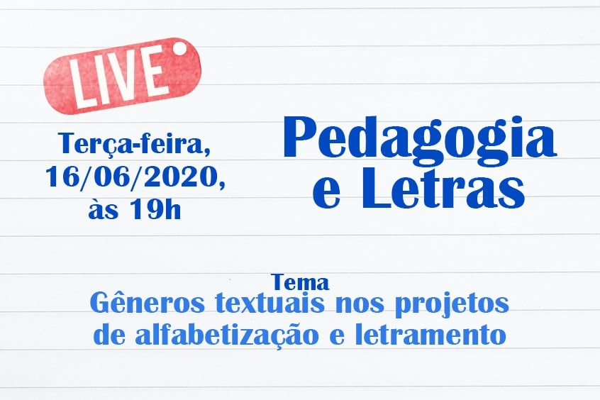 Live: Gêneros textuais nos projetos de alfabetização e letramento