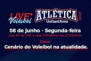 Atlética realiza live sobre o Atual Cenário do Voleibol