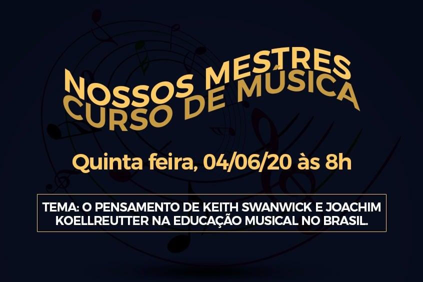 Curso de Música lança série Nossos Mestres