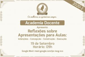 Academia Docente: Reflexões sobre Apresentações para Aulas