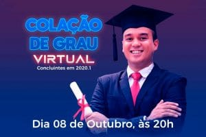 UniSant'Anna realizará cerimônia de colação de grau virtual nessa quinta-feira, 08 de outubro