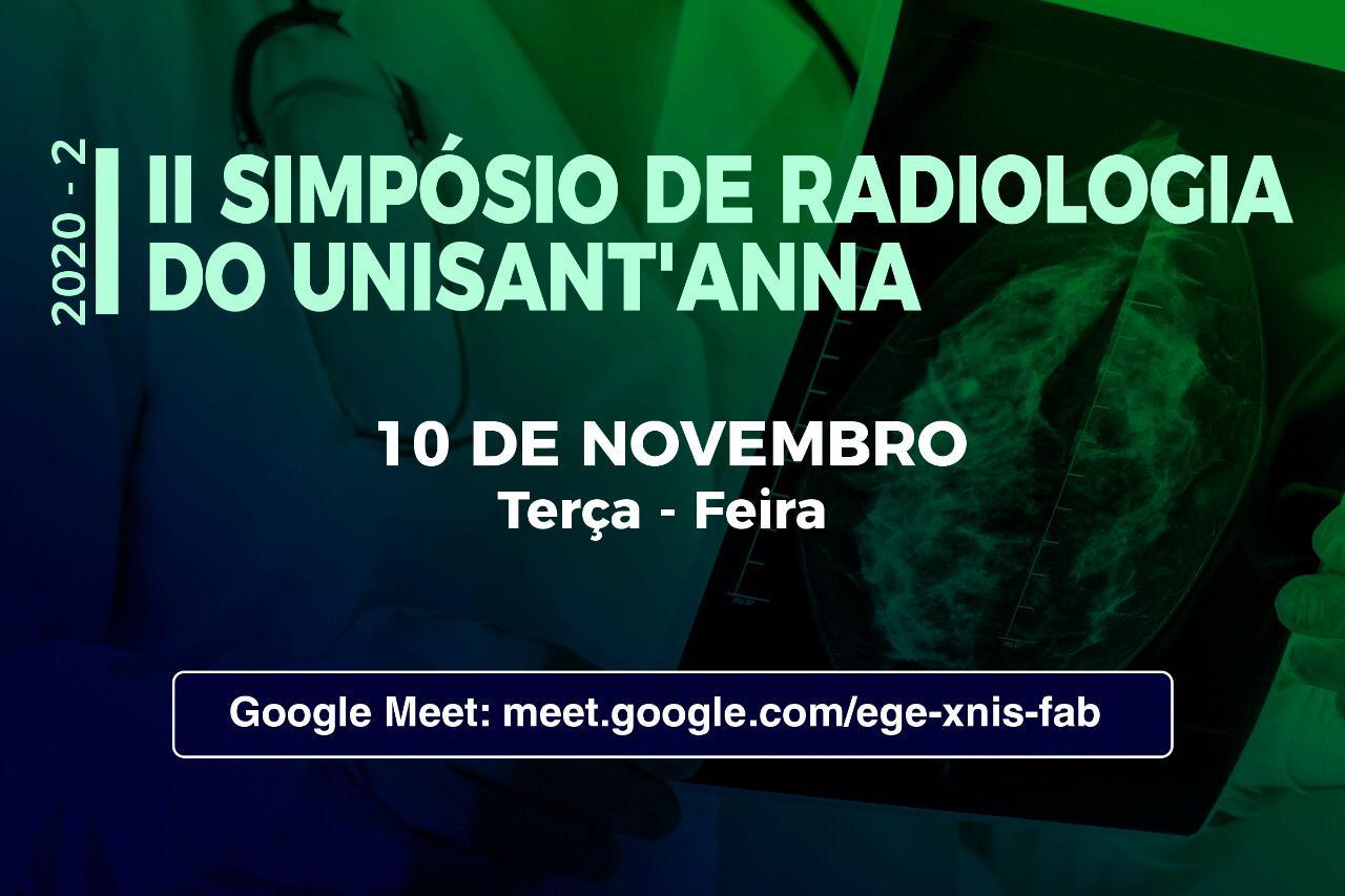 Inscreva-se gratuitamente no II Simpósio de Radiologia do UniSant'Anna