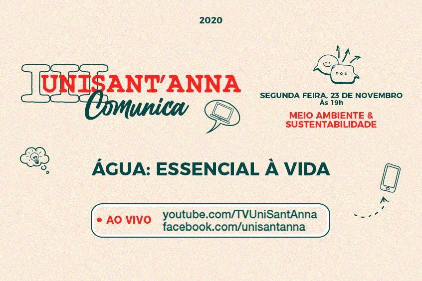 III UniSant'Anna Comunica: Água é essencial à vida!