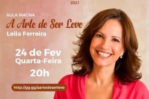 """Aula Magna com Leila Ferreira sobre """"A Arte de Ser Leve"""""""