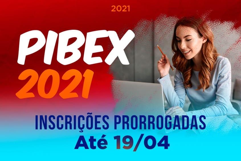 PIBEX: inscrições prorrogadas até 19/04
