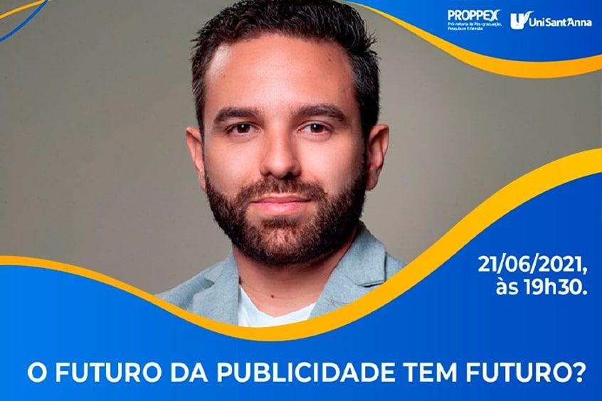 Palestra de Erick Costa, dia 21/06, abordará sobre o Futuro da Publicidade