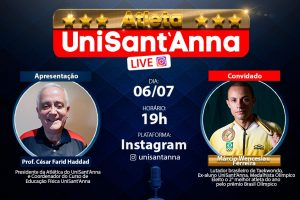 Live da Atlética UniSant'Anna recebe Márcio Wenceslau Ferreira
