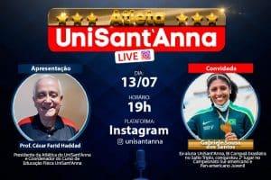 Live da Atlética UniSant'Anna recebe Gabriele Sousa dos Santos