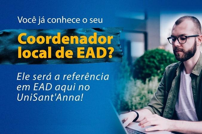 Precisa de ajuda com o EAD? Conheça o novo coordenador local de EAD do UniSant'Anna